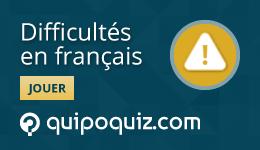 Jeu-questionnaire de Quipo Quiz sur les difficultés en français
