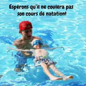 Il coule son cours de natation