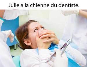 Avoir la chienne: expression québécoise.