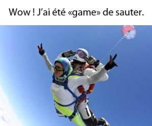 Être game en québécois