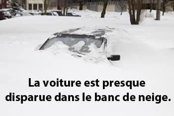 Dictionnaire québécois : banc de neige