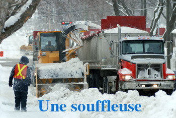 Dictionnaire québécois : le mot souffleuse