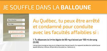 Souffle-balloune-ivressomètre ; dictionnaire québécois