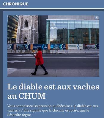 le-diable-est-aux-vaches : expression québécoise