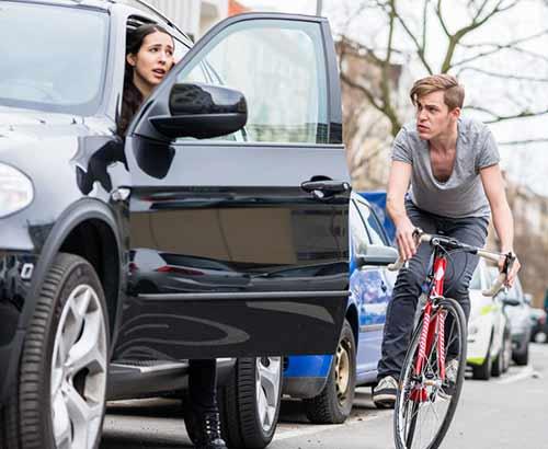 Un cycliste victime d'emportiérage.