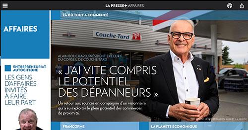 Le roi des dépanneurs : Alain Bouchard, fondateur de la chaîne Couche-Tard, le plus grand regroupement de dépanneurs au monde.