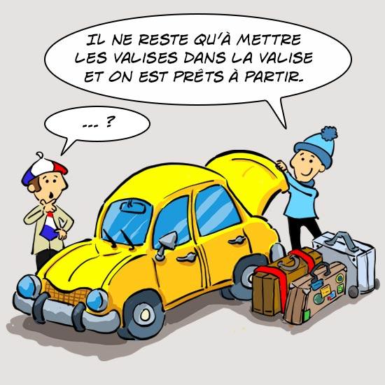 Mots québécois : mettre les valises dans la valise