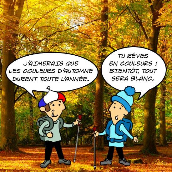 Tu rêves en couleurs ! Bientôt tout sera blanc, dit Jules le Québécois à son cousin français.